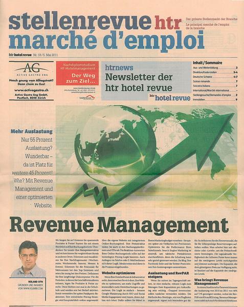 htr.ch 2011-05-05 Artikel: Revenue Management - Roland Oth igumbi.com