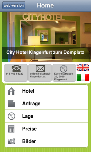 mobile hotel Website
