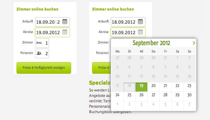 igumbi online Buchungstool nach der Überarbeitung #online #buchungssystem #hotel #website #UX