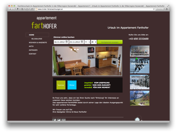 Apartment Farthofer in Schwaz Tirol