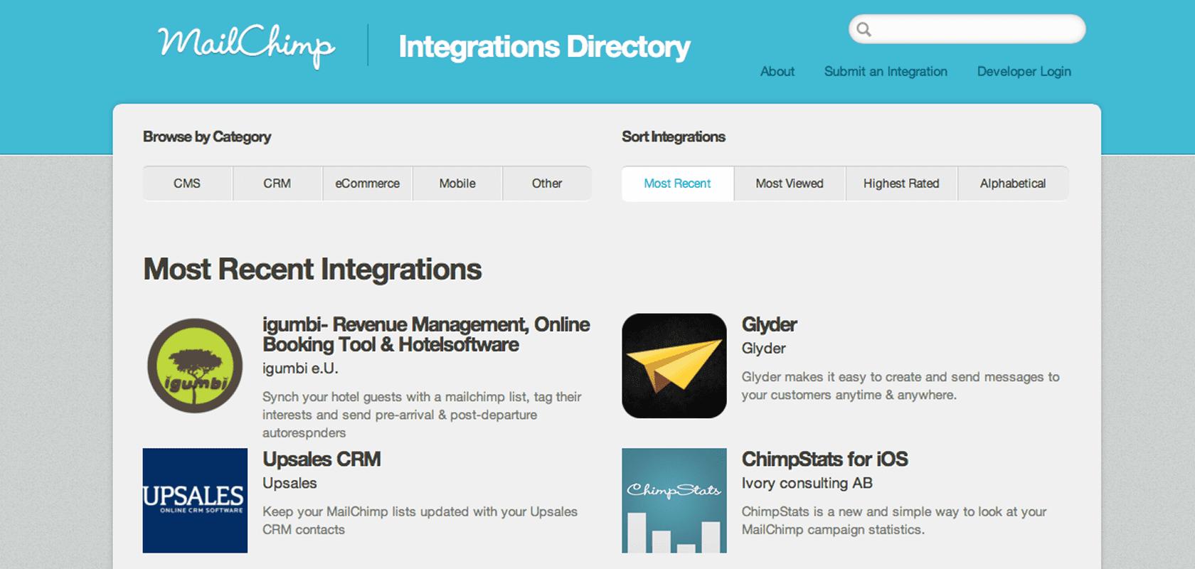 Neuester Zugang im Mailchimp integration directory igumbi Hotelsoftware - Gästedaten mit Interessens-Tags in die Mailchimp Liste übertragen