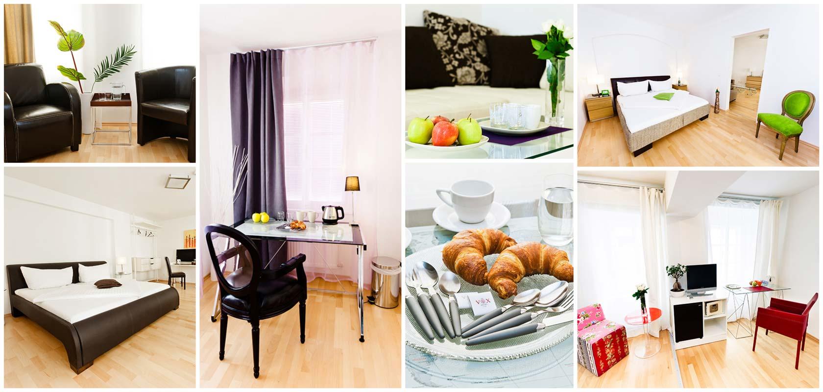 Vox Apartment Hotel in Wien Leopoldstadt Collage