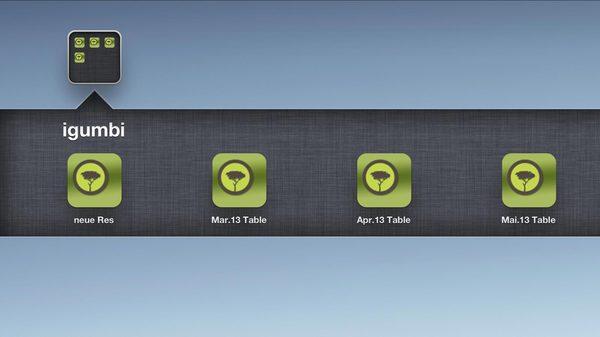 igumbi Belegungsplan schnell erreichen am iPad Homescreen #hotelsoftware #ipad #homescreen