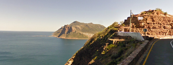 Sentinel and Hout Bay from Chapmans Peak Drive